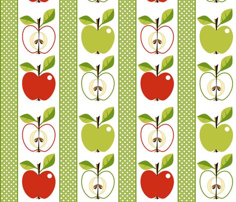 Apple - Cordon or Minarette! fabric by moirarae on Spoonflower - custom fabric