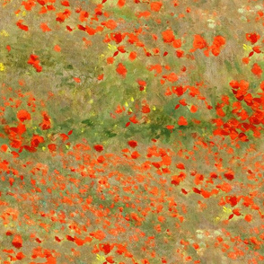 Monet: Poppy Field- Poppies Only Original Palette