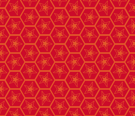 bee a star fabric by keweenawchris on Spoonflower - custom fabric