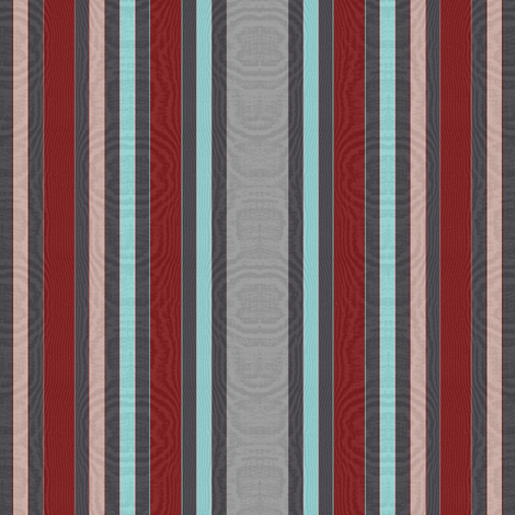 Striped Moire ~ Putting' On the Ritz fabric by peacoquettedesigns on Spoonflower - custom fabric