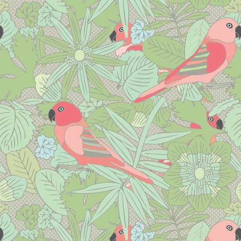 Botanic & Birds - Custom fabric by owlandchickadee on Spoonflower - custom fabric