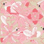 Botanic & Birds - Pink