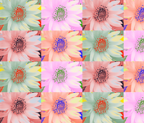 Mod Sunflowers 1 fabric by dovetail_designs on Spoonflower - custom fabric