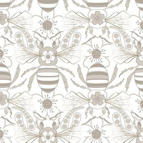 Tribal Bee in Gray & Silver