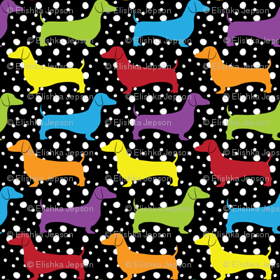 Rainbow Dotted Doxies (Dark)