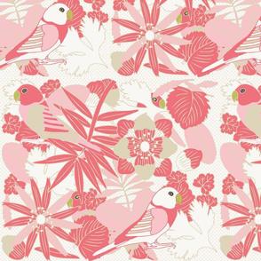 Botanic & Birds - Coral