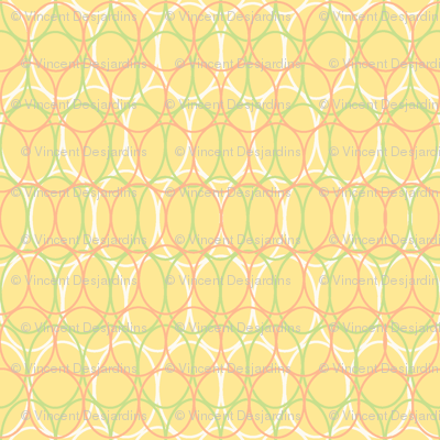 Oval Chains Muted Yellow