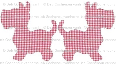 Gingham Scotties