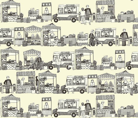 every other Friday | farmer's market fabric by scrummy on Spoonflower - custom fabric