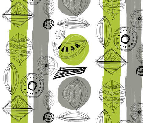 Fruitful mod-ed fabric by chrissyink on Spoonflower - custom fabric