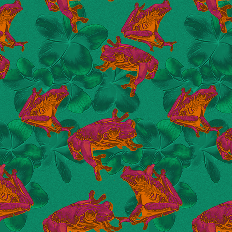 neon_frogs_nverse fabric by mammajamma on Spoonflower - custom fabric