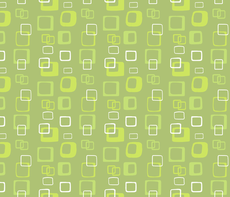 Mod Abstract Green and White