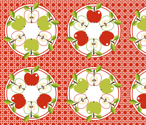 Apple -Tarte Tatin! fabric by moirarae on Spoonflower - custom fabric