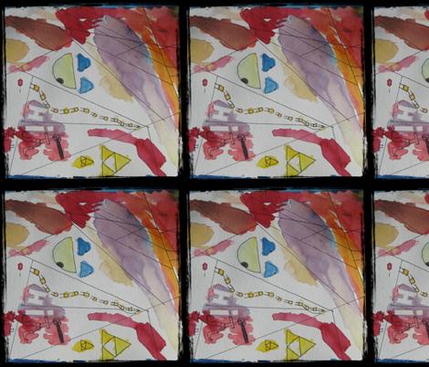 Morgan's Watercolour: children's art fabric by callioperosehandcarjones on Spoonflower - custom fabric