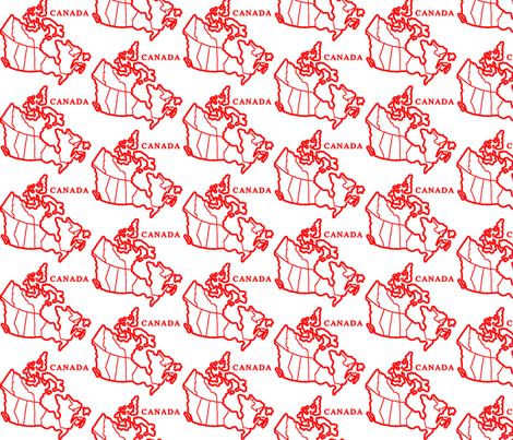 Canada Map: White fabric by callioperosehandcarjones on Spoonflower - custom fabric