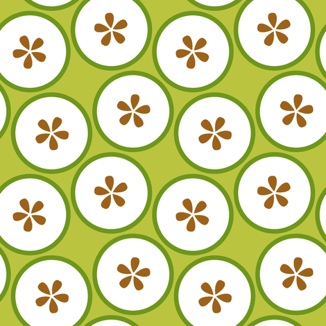 cut apples S43 fabric by sef on Spoonflower - custom fabric
