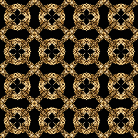 Mod Leopard Lace 1 fabric by dovetail_designs on Spoonflower - custom fabric