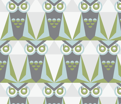 Mod Night Owl fabric by kate_legge on Spoonflower - custom fabric