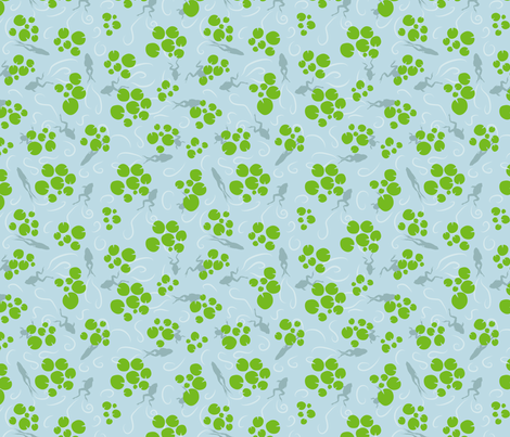 Frogs and lily pads fabric by boeingbleu on Spoonflower - custom fabric