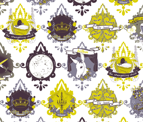Love in Idleness fabric by candyjoyce on Spoonflower - custom fabric