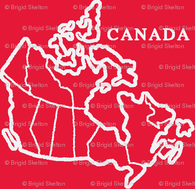 Canada Map: Red