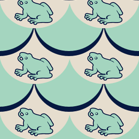 Frog Frenzy fabric by popstationery&gifts on Spoonflower - custom fabric