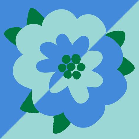 mod flower 1 - diamond decal fabric by victorialasher on Spoonflower - custom fabric