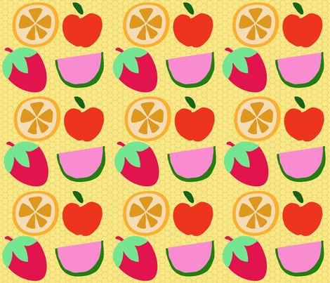 Fruit Salad fabric by popstationery&gifts on Spoonflower - custom fabric