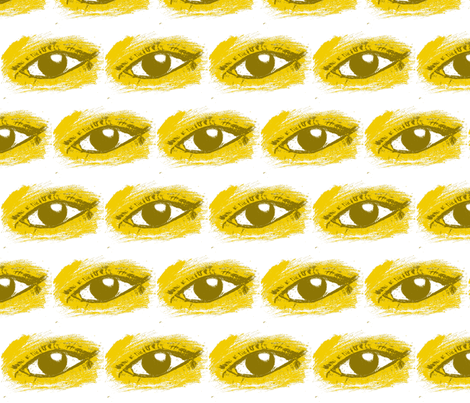 Dijon Eye fabric by misfit_citizen on Spoonflower - custom fabric