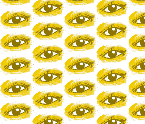 Dijon Eye fabric by leciaralyn on Spoonflower - custom fabric