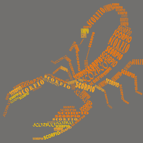 Scorpio the Scorpion Grey fabric by smuk on Spoonflower - custom fabric
