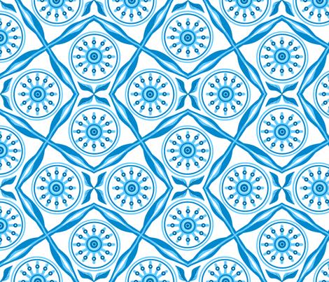 Geo-flower splash fabric by khowardquilts on Spoonflower - custom fabric