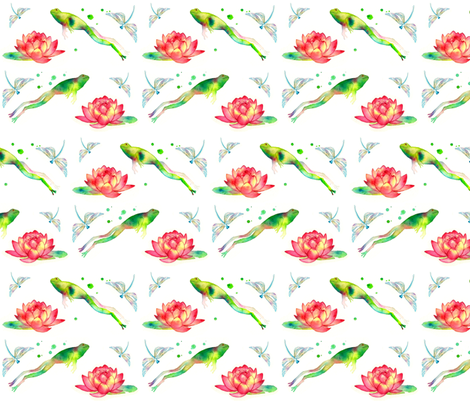 Lily Leap fabric by fabricandfairytales on Spoonflower - custom fabric