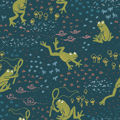 froggo fabric by megmelrose on Spoonflower - custom fabric