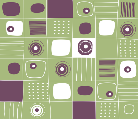 RETRO VINTAGE GEOMETRIC fabric by deeniespoonflower on Spoonflower - custom fabric