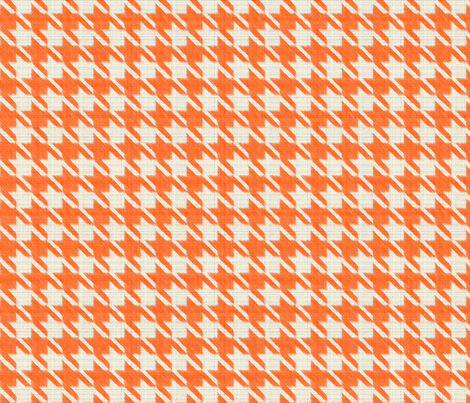 Houndstooth Burlap - Orange fabric by boeingbleu on Spoonflower - custom fabric
