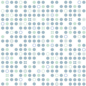 Raindots in Blue