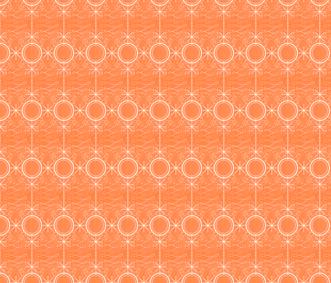 Fancy Orange atomic star fabric by seabluestudio on Spoonflower - custom fabric