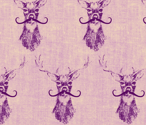 stagoliciousmustache fabric by tailofthedog on Spoonflower - custom fabric