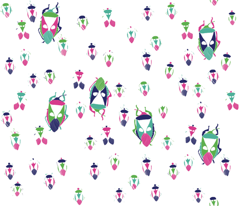 Nuage_01 fabric by rouge_pivoine on Spoonflower - custom fabric