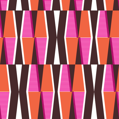 Dayo Spice - Midcentury Modern Retro Geometric fabric by heatherdutton on Spoonflower - custom fabric