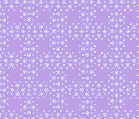 Purple Snowflake Weave  ©2013 by Jane Walker fabric by artbyjanewalker on Spoonflower - custom fabric