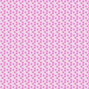 Pink Flowers - Ditsy