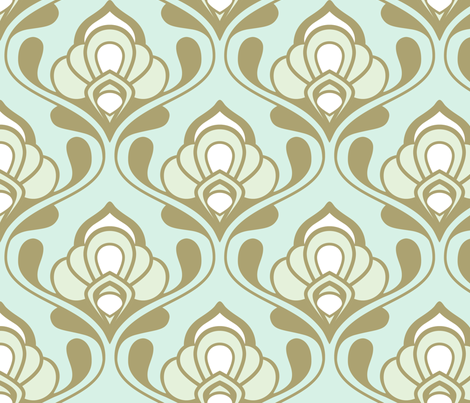 A Mod Nod to Nouveau fabric by nadiahassan on Spoonflower - custom fabric