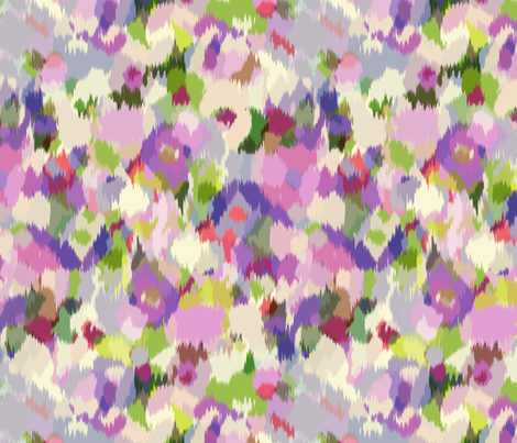 Monet's_Garden fabric by chulabird on Spoonflower - custom fabric