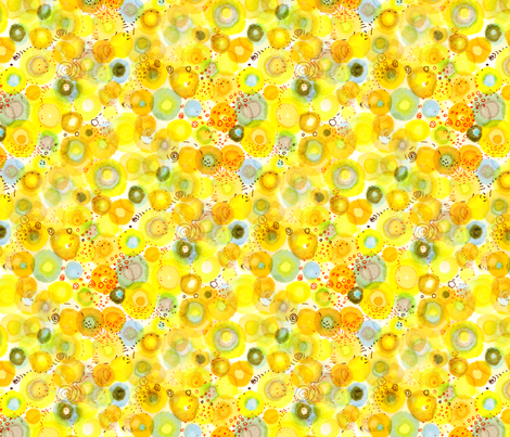 lemon_fizz fabric by nerdlypainter on Spoonflower - custom fabric