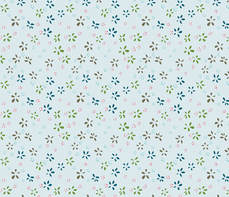 fleurettes02 fabric by rouge_pivoine on Spoonflower - custom fabric