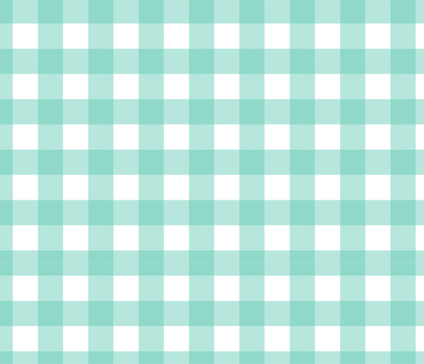 Gingham Aqua fabric by maydesigns on Spoonflower - custom fabric