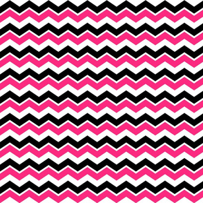Black White Pink Chevron