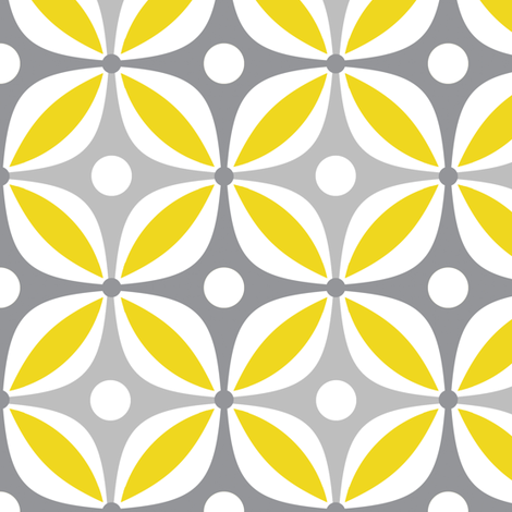 Lemon Peels - Mod Wallpaper - Three Color fabric by dianef on Spoonflower - custom fabric